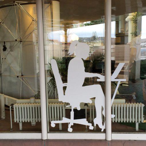 Fensterbeklebung Arbeitsamt Rastatt