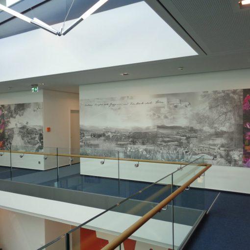 Digitaldruck Volksbank Bild von Künstlerin Edtith Baerwolf Karlsruhe