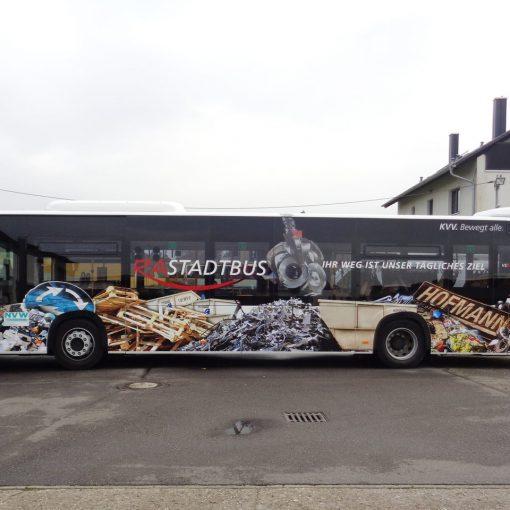 Fahrzeugbeschriftung Bus Hofmann