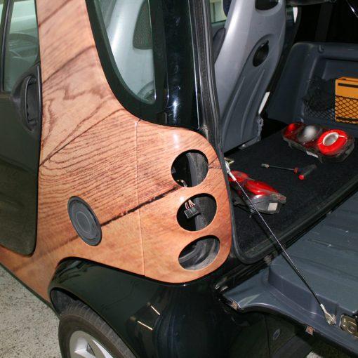 Fahrzeugbeschriftung | Smart Holzoptik