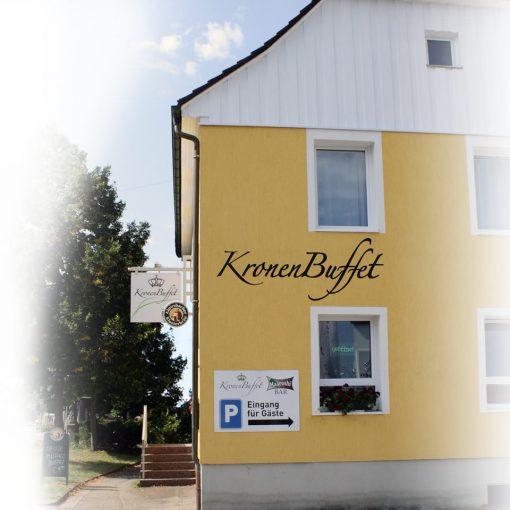 Fassadenbeschriftung Gaststätte