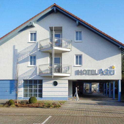 Fassadengestaltung Hotel Astra Rastatt