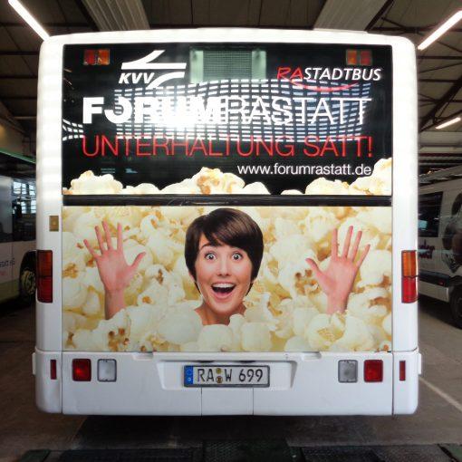 Busbeschriftung | Kino Forum Rastatt