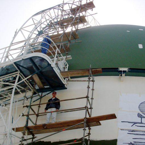 Außengestaltung Gas-Tank