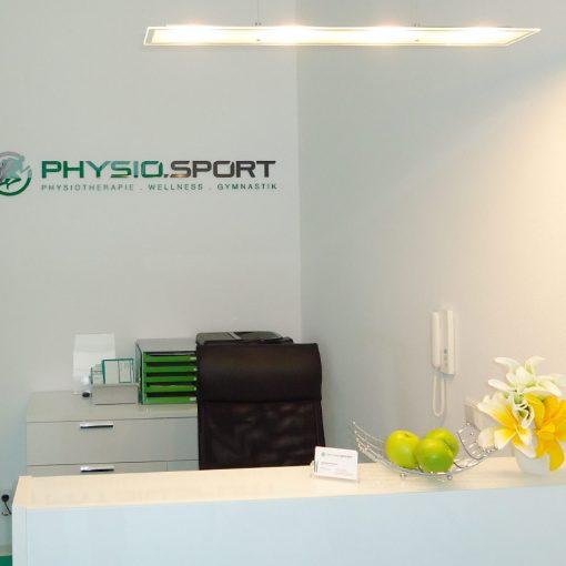 Innengestaltung Physiotherapie