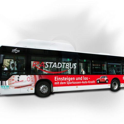 Busbeschriftung Sparkasse