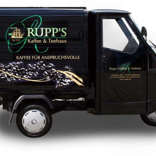 Fahrzeugbeschriftung | Rupp's Kaffee und Teehaus