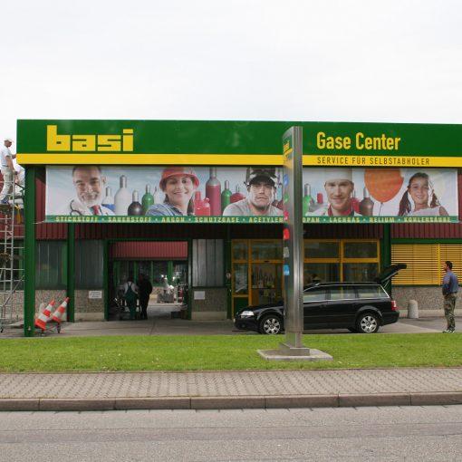 Großfläche Basi-Gase