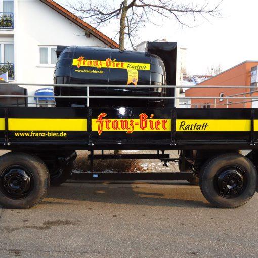 Fahrzeugbeschriftung | Brauerei Franz
