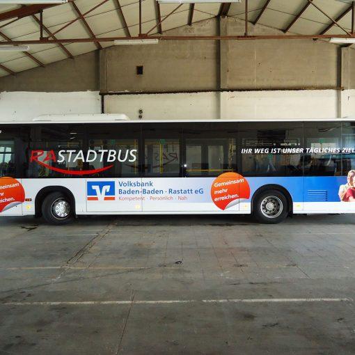 Busbeschriftung | Volksbank